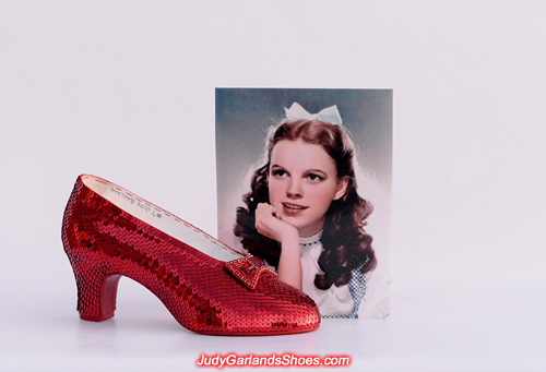 Judy Garland's size 5B right shoe is finished