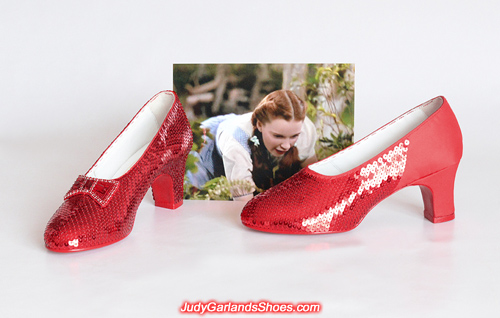 Judy Garland's size 5B ruby slippers is 80 percent complete