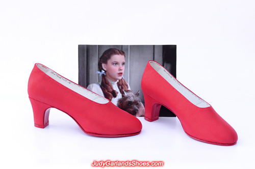 Judy Garland's size 5B shoes made from scratch
