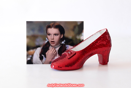 Judy Garland's wearable right shoe is finished