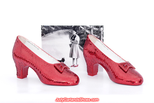 July, 2019 wearable size 5B hand-sewn ruby slippers