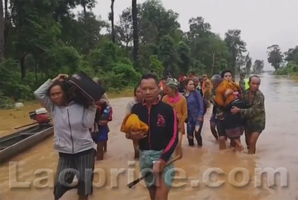 Laos dam collapse leaves hundreds missing and unknown number feared dead