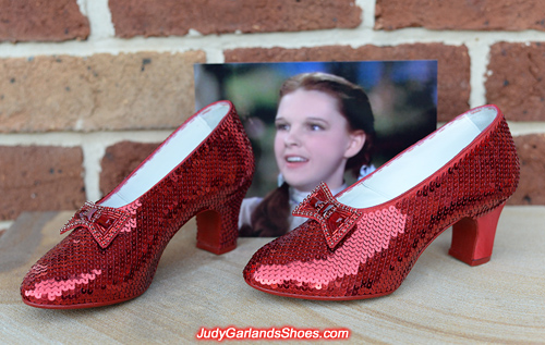 More sewing to do on this gorgeous pair of ruby slippers