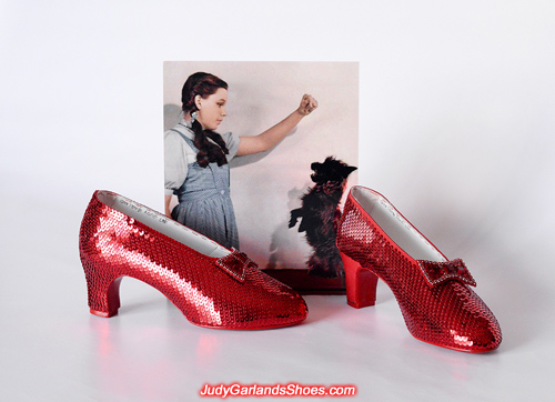Our work continues with this beautiful pair of ruby slippers