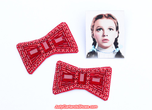 Professionally crafted ruby slipper hand-sewn bows