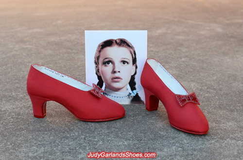 Reproduction Judy Garland as Dorothy's size 5B dance shoes