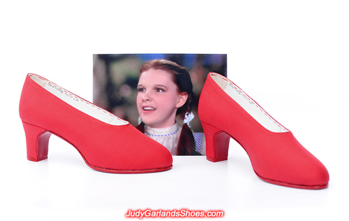 Shoes made from scratch in Judy Garland's size 5B