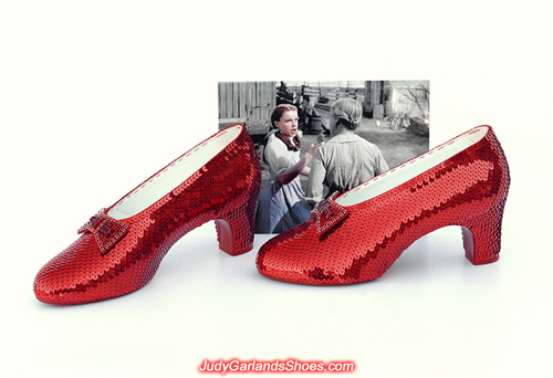 Simply breathtaking pair of hand-sewn ruby slippers