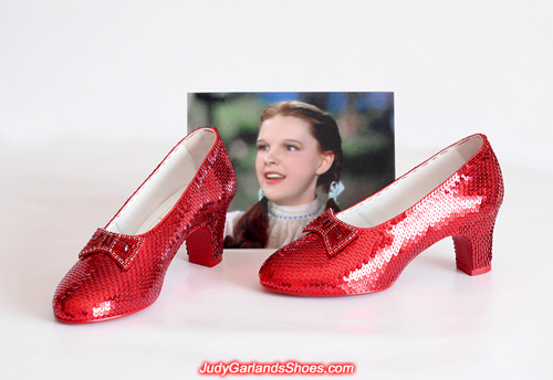 Size 5B hand-sewn ruby slippers is finished in May, 2019