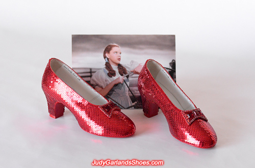 Size 5B hand-sewn ruby slippers made in December, 2019