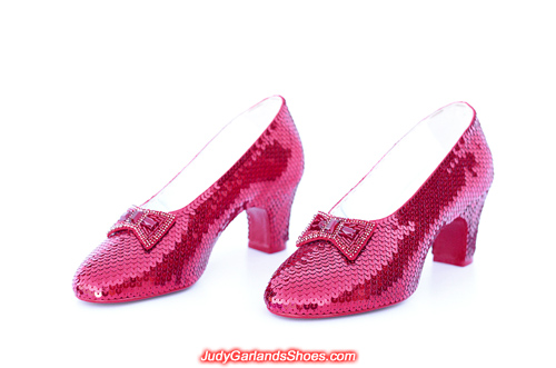 Size 5B hand-sewn ruby slippers made in November, 2019