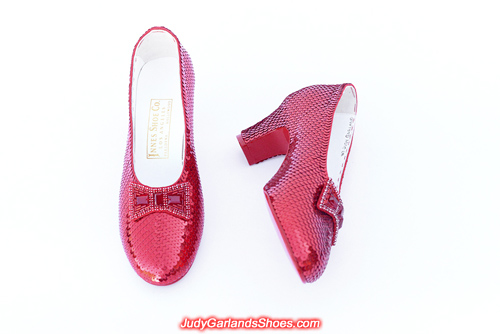 Size 5B hand-sewn ruby slippers made in October, 2019