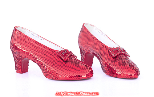 Stunning pair of ruby slippers crafted in April, 2018