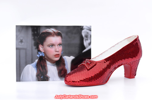 The finished right shoe for women's size 8.5 ruby slippers