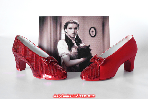 The hard work continues with Judy Garland's ruby slippers