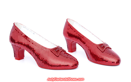 US women's size 8.5 hand-sewn ruby slippers