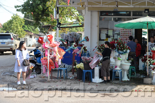 Valentine's Day in Vientiane, Laos