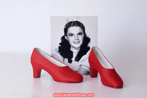 Wearable shoes crafted in Judy Garland's size 5B