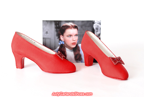 Wearable shoes made from scratch in Judy Garland's size 5B