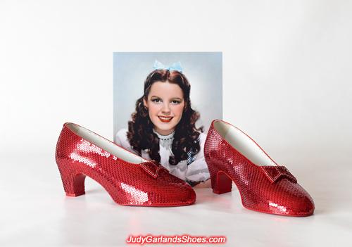 Australian women's size 9 hand-sewn ruby slippers