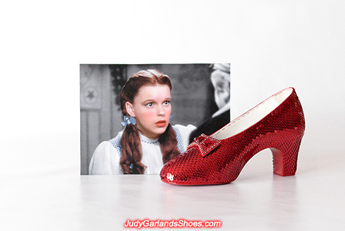 Completed Judy Garland's size 5B right shoe