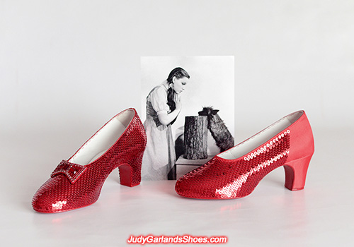 Crafting size 5B hand-sewn ruby slippers