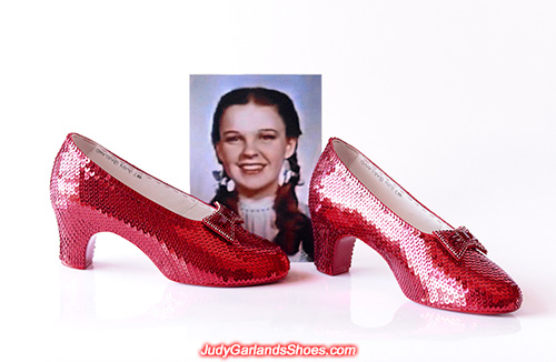 Judy Garland's size 5B hand-sewn ruby slippers