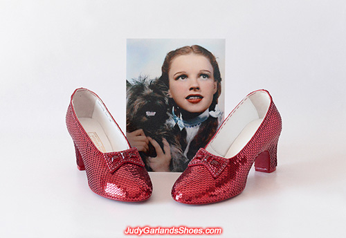 Size 5B hand-sewn ruby slippers