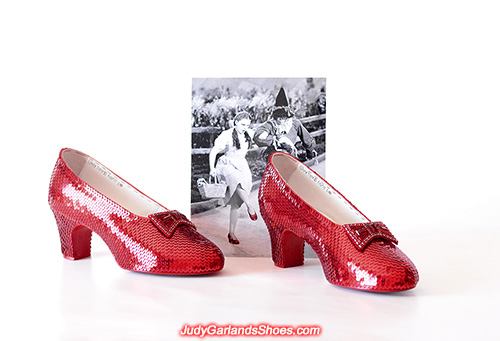 Size 5B hand-sewn ruby slippers made in April, 2020
