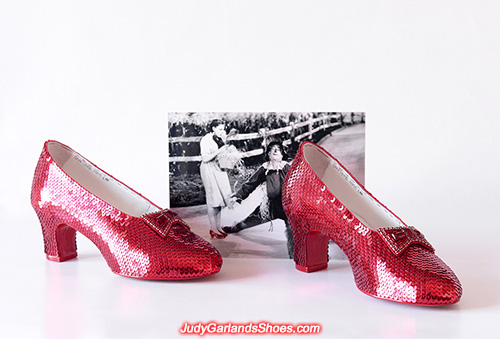 Size 5B hand-sewn ruby slippers made in July, 2020