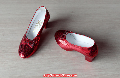 Size 5B ruby slippers made in December, 2020