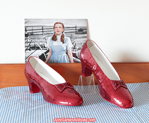 US men's size 10 hand-sewn ruby slippers