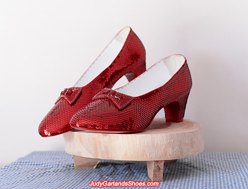 US women's size 12 hand-sewn ruby slippers
