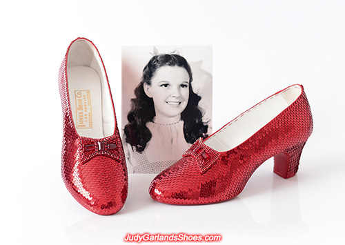 US women's size 6 hand-sewn ruby slippers