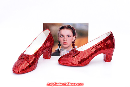US women's size 8 hand-sewn ruby slippers