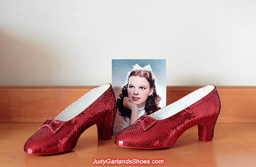 US women's size 9 hand-sewn ruby slippers