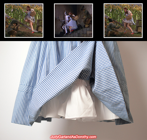 Full petticoat slip worn by Judy Garland as Dorothy