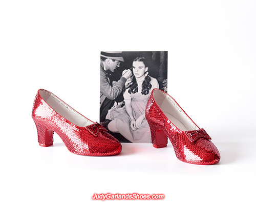 Hand-sewn ruby slippers made in January, 2021.