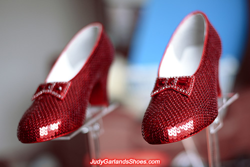 Hand-sewn ruby slippers made in March, 2021