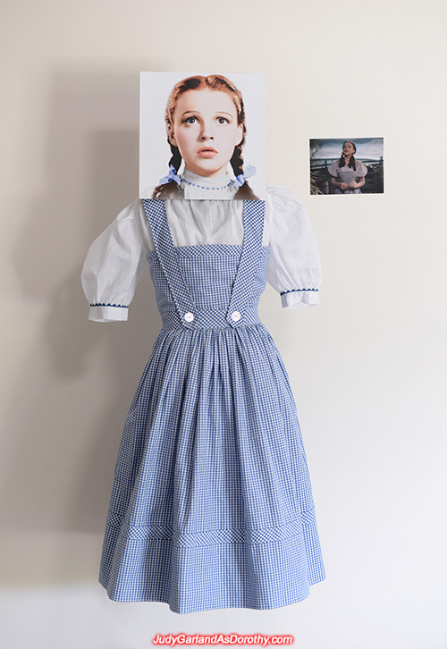 Judy Garland as Dorothy's authentic-looking dress