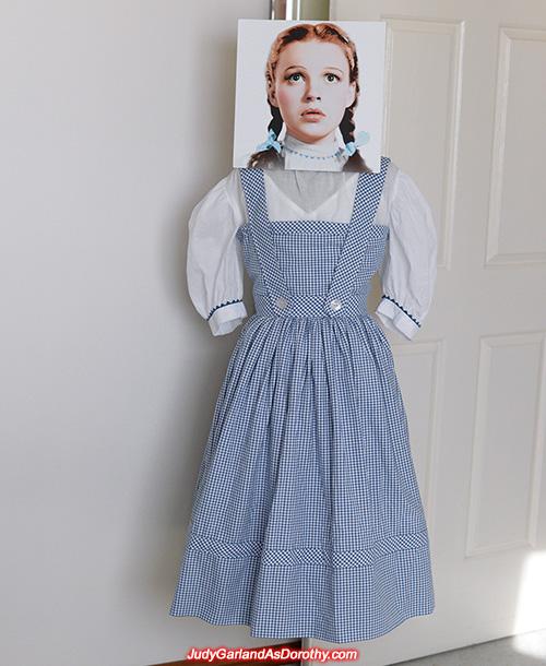 Judy Garland as Dorothy's gingham pinafore dress