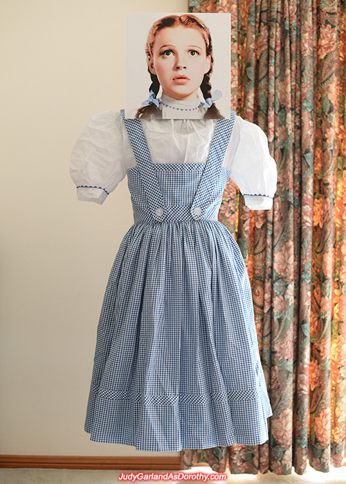 Judy Garland as Dorothy's reproduction outfit
