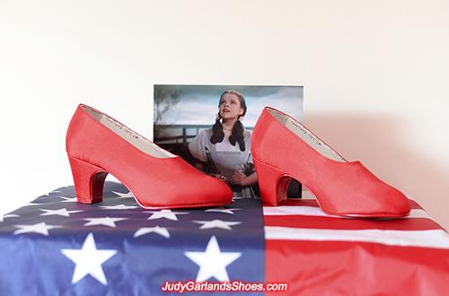 Judy Garland's wearable handmade size 5B shoes