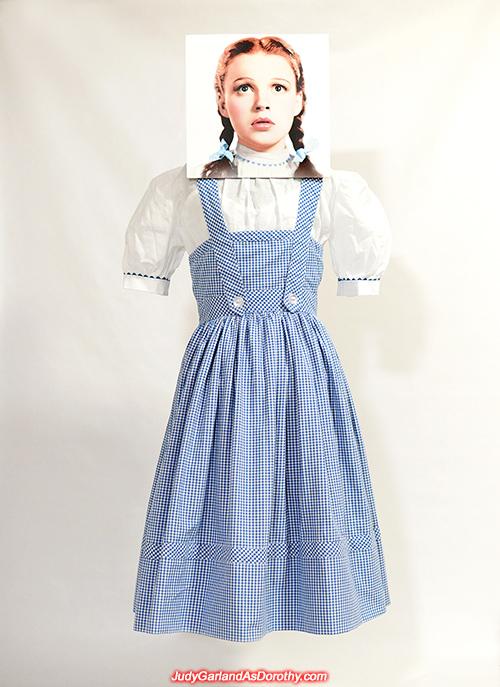 Lower bodice on Judy Garland's gingham dress
