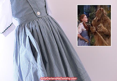 Right pocket on Judy Garland as Dorothy's dress