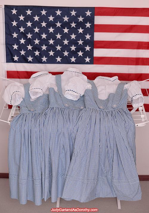 Three exact reproduction Dorothy dresses