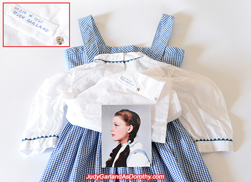 White puff-sleeve blouse worn by Judy Garland as Dorothy