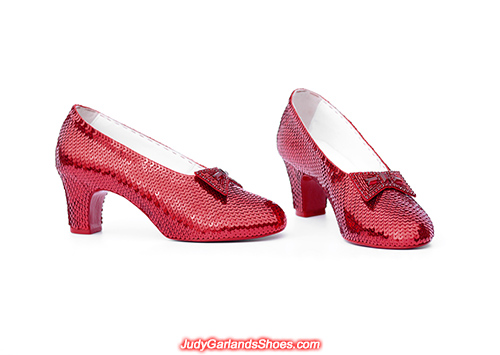 Women's size 6 hand-sewn ruby slippers